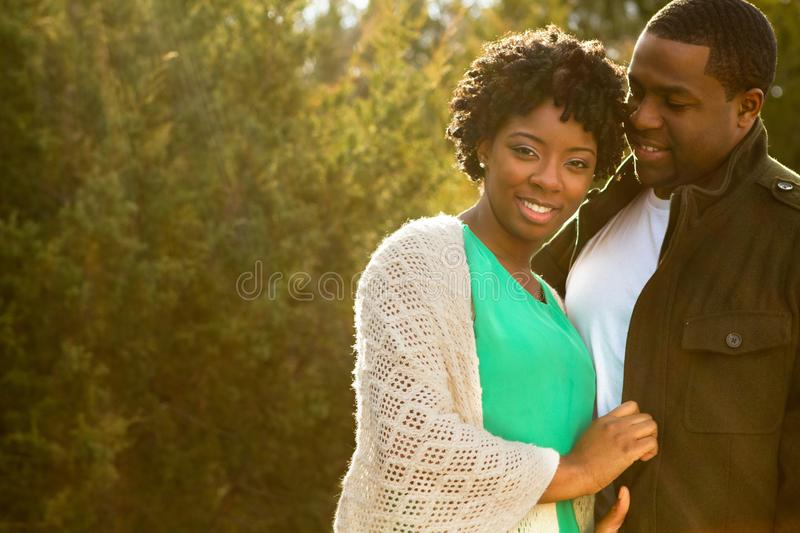 Portrait of an African American loving couple. stock image