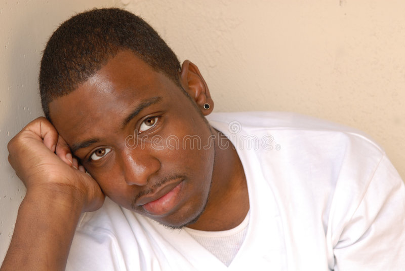 Portrait of African American Male stock photography