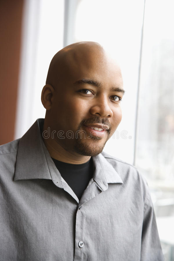 Portrait of African-American Man stock photo