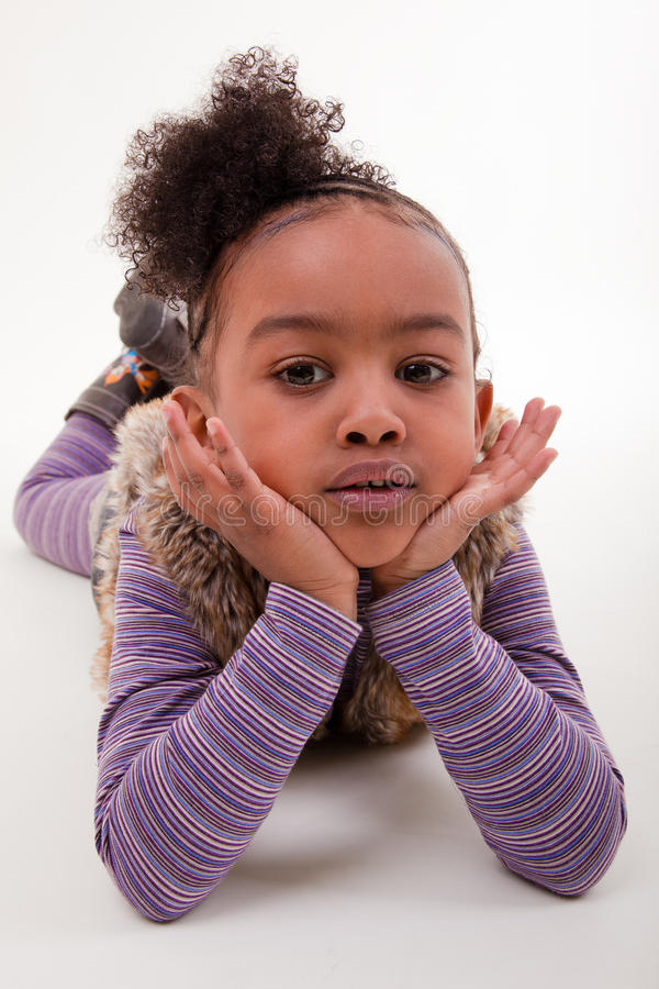 Portrait Of A African Little Girl Royalty Free Stock Photography