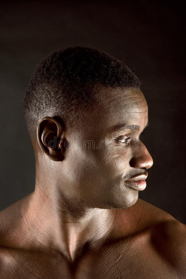 Portrait of african man stock images