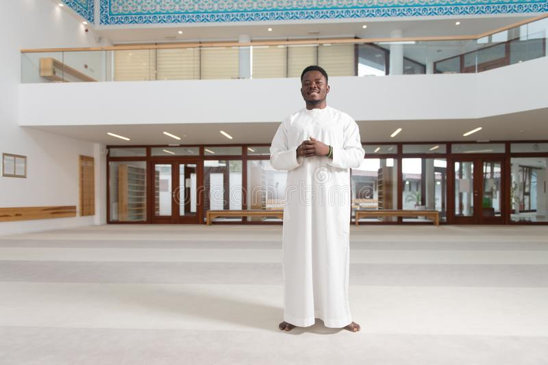 Portrait Of A Black African Man In Mosque royalty free stock image