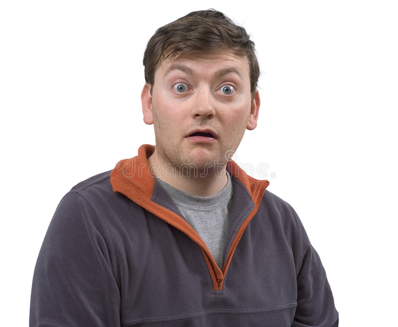 Portrait of amazed man stock images