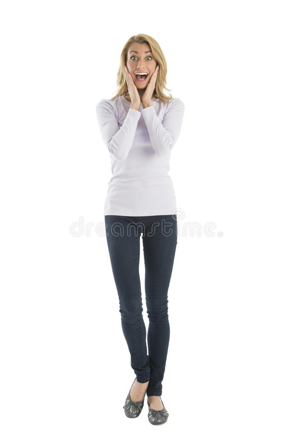 Download Portrait Of Amazed Young Woman Screaming Stock Image - Image: 32278367