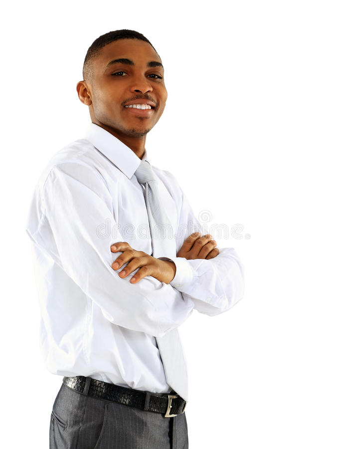 Portrait of American African business man stock images