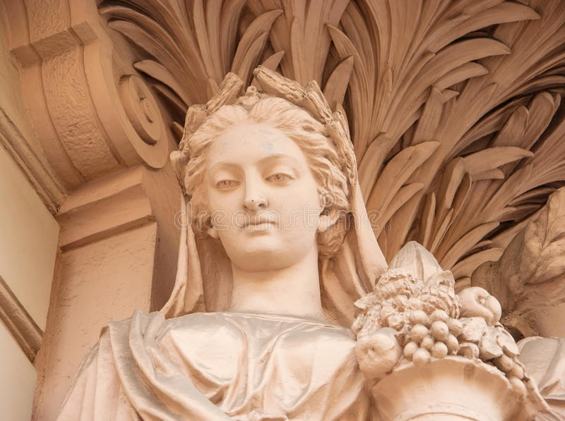 Portrait of the ancient goddess royalty free stock photo
