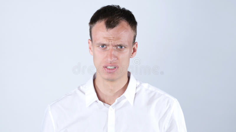 Portrait of Angry businessman royalty free stock photo