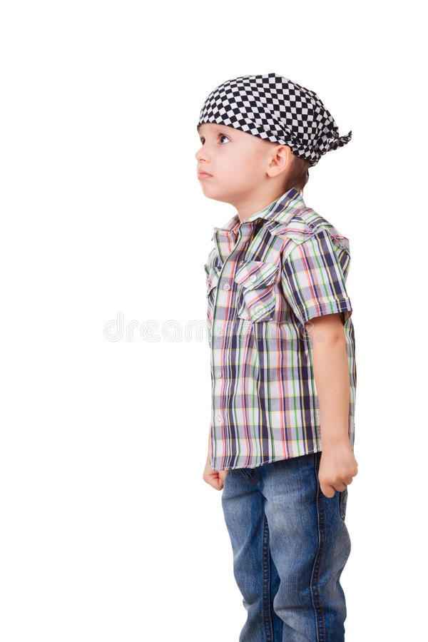 Download Angry Capricious Preschool Kid On White Stock Image - Image of exacting, emotion: 30029577