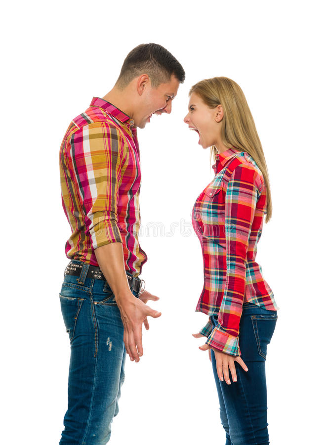Download Portrait Of An Angry Couple Shouting Stock Image - Image of female, angry: 33265399