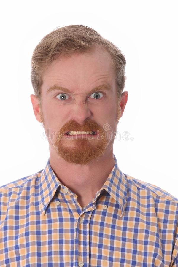 Portrait of angry man royalty free stock image