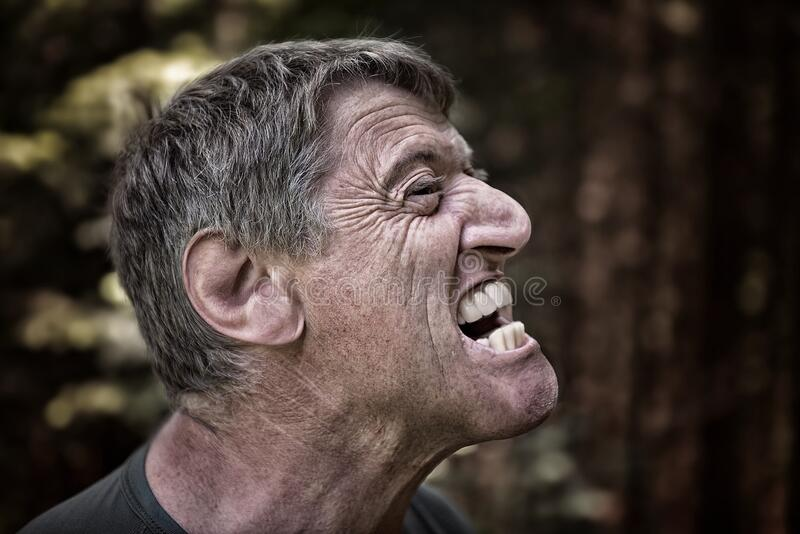 Portrait of angry man royalty free stock photography