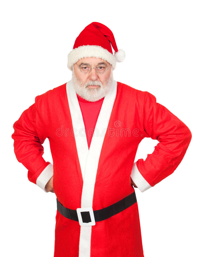 Download Portrait Of Angry Santa Claus Stock Image - Image: 16057559