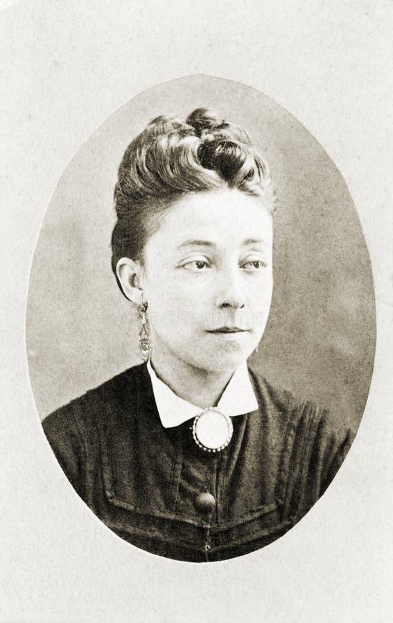 Portrait antique de Madame images libres de droits