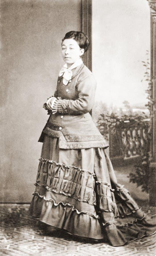 Portrait antique de Madame photographie stock
