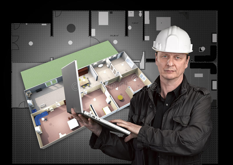 Portrait of a architect royalty free stock image