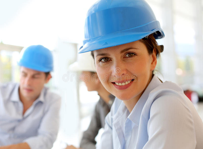 Download Portrait Of Architect Woman Stock Photo - Image: 27181192