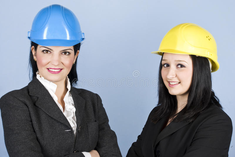 Portrait of architects women royalty free stock images