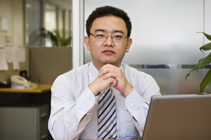 Portrait of asian business executive stock image
