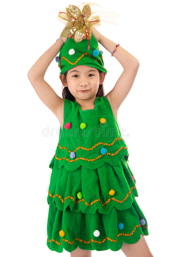 Download Portrait Of Asian Cute Girl In CHRISTMAS TREE Costume. Stock Image - Image of  sc 1 st  Dreamstime.com & Portrait Of Asian Cute Girl In CHRISTMAS TREE Costume. Stock Image ...
