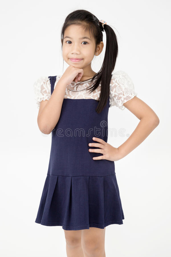 Portrait of asian cute girl with smile face stock photography