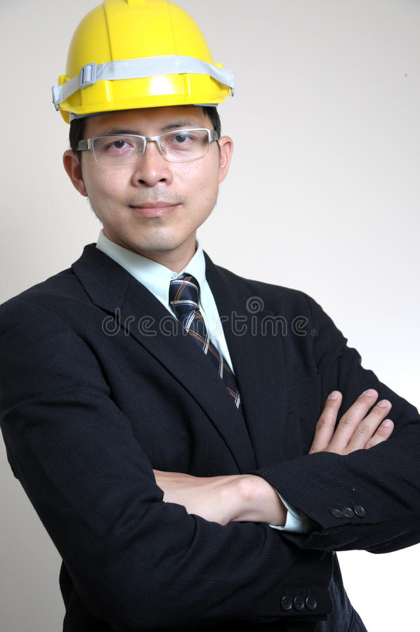 Download Portrait Asian Engineer stock image. Image of collar - 26841551