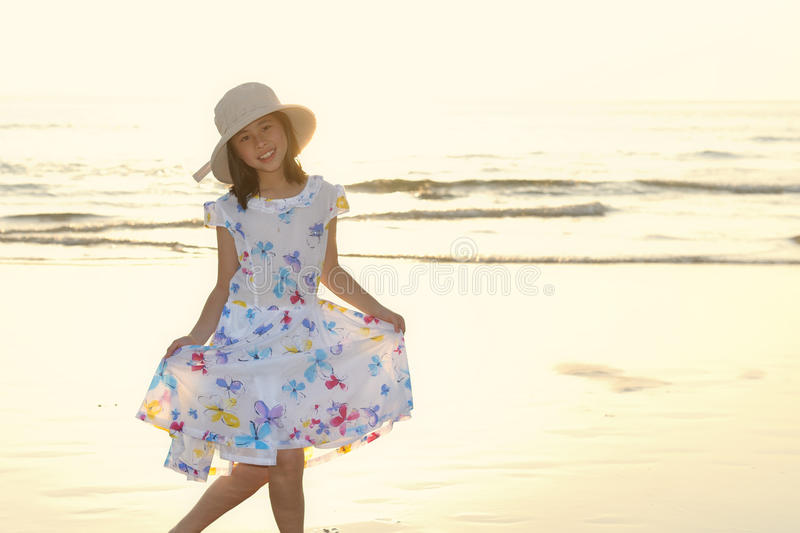 Download Portrait Of Asian Kid On The Beach Stock Image - Image: 19944963