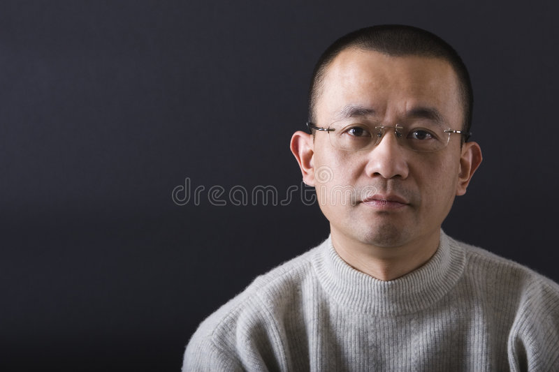 Download Portrait of asian man stock photo. Image of gray, grey - 8163008