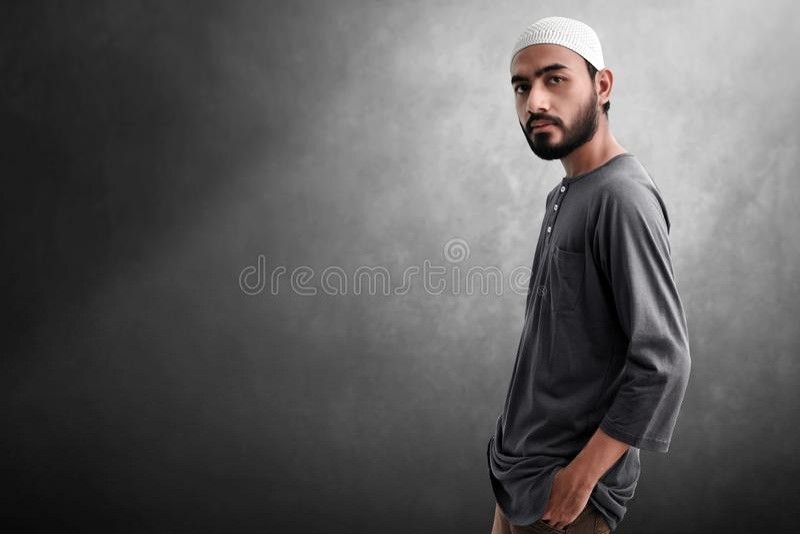Portrait of asian muslim man royalty free stock image
