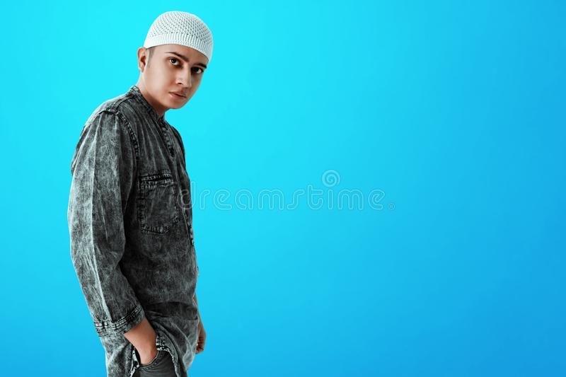 Portrait of asian muslim man. Portrait of asian muslim men royalty free stock photos
