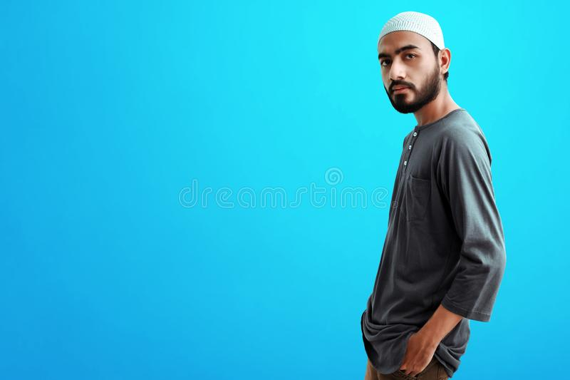 Portrait of asian muslim man royalty free stock photography