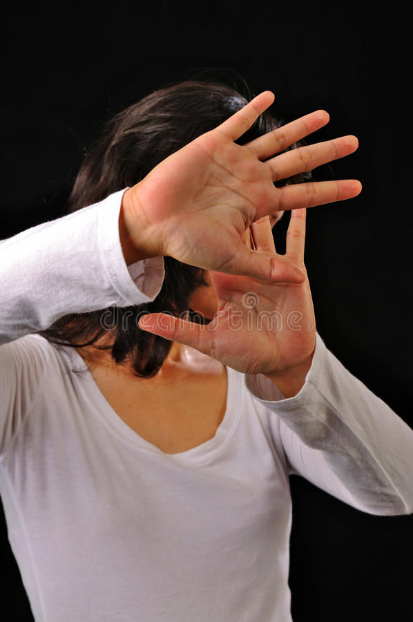 Download Woman Cover Her Face With Hands Stock Image - Image: 29723659