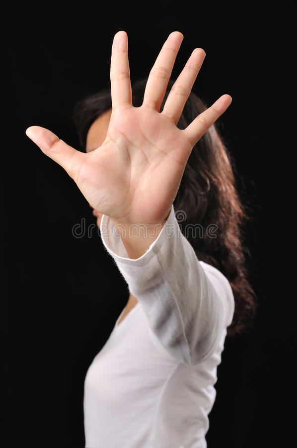 Download Woman Cover Her Face With Hands Stock Photo - Image: 29723674