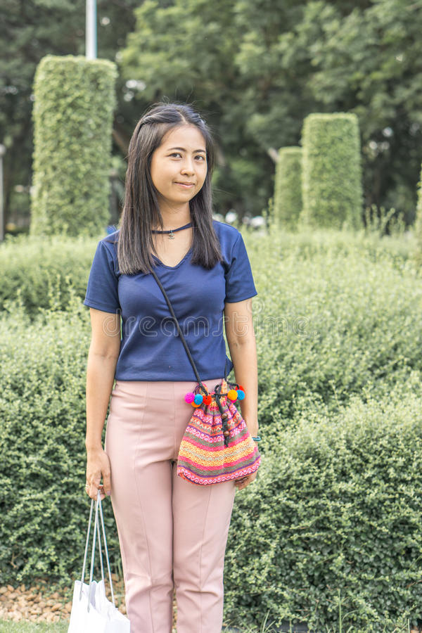 Portrait of a asian woman royalty free stock photos