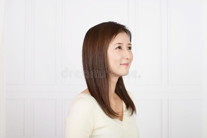 Woman smiling happy royalty free stock photography