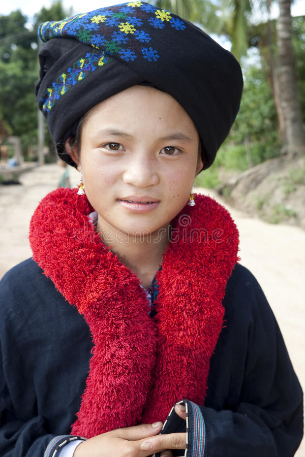 Portrait of Asian woman Yao from Laos stock photos