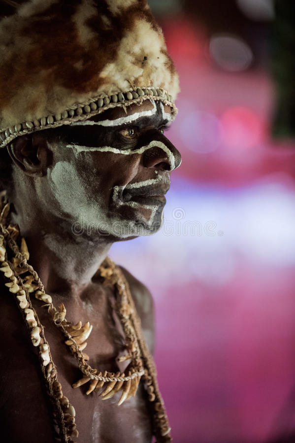 Download Portrait of the Asmat man editorial stock photo. Image of guinea - 26381928