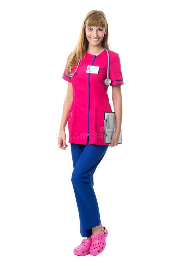 Portrait assez de sourire d'infirmière photos stock