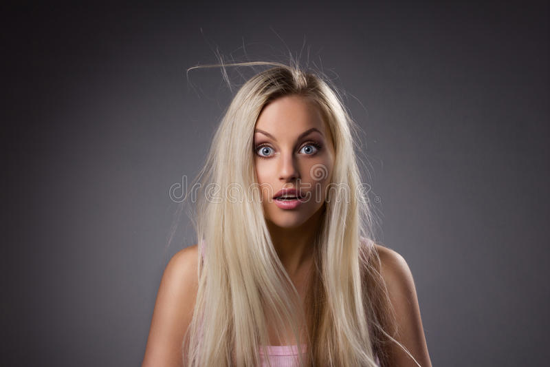 Download Portrait Of Astonishing Girl Stock Photo - Image of emotion, dishevelled: 31264714