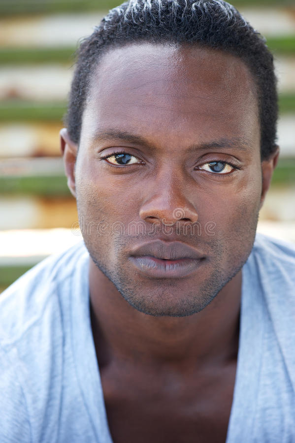 Portrait of an attractive african american man royalty free stock image