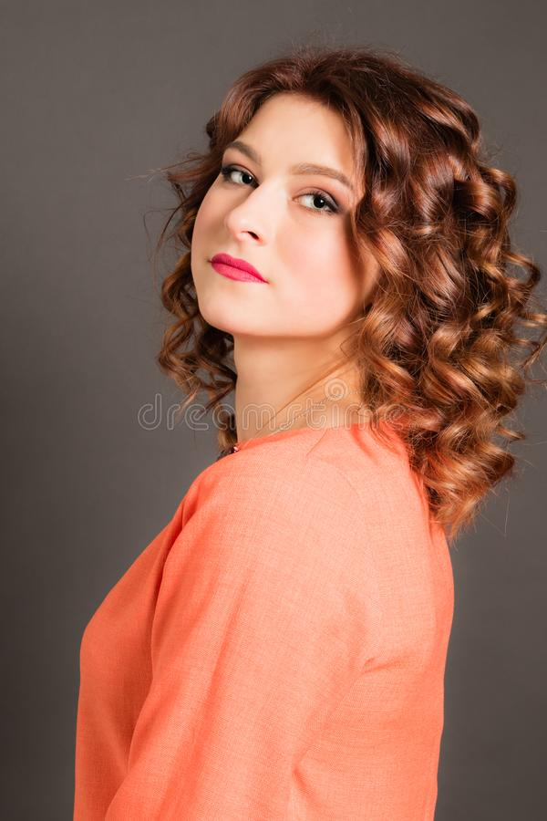 Portrait of an attractive beautiful girl stock photo
