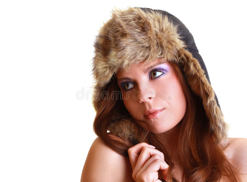 Portrait of attractive beautiful woman.  stock photos