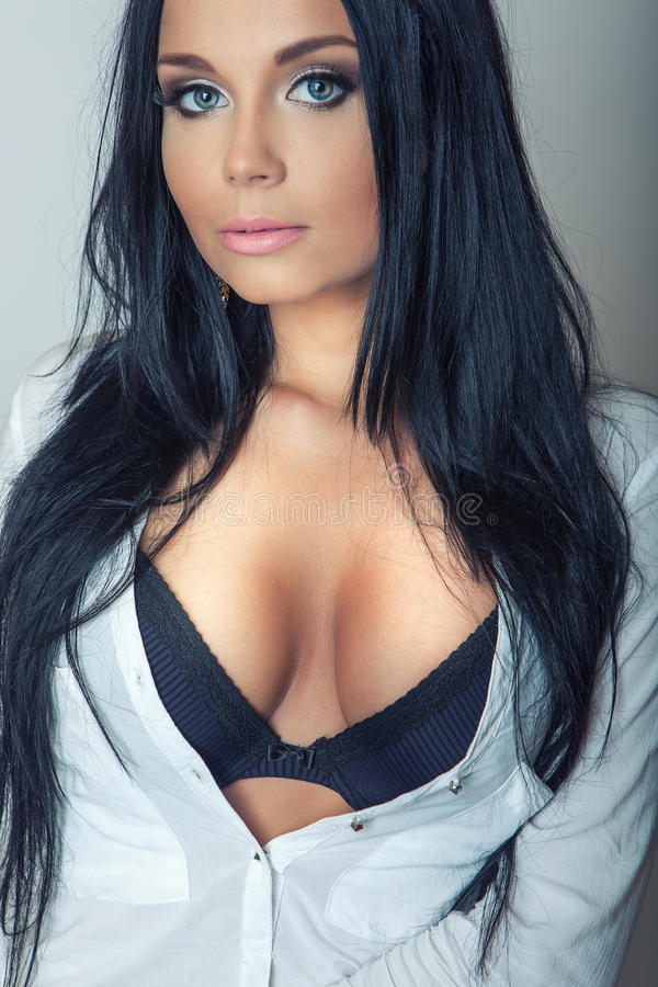 real boobs eyes black hair blue