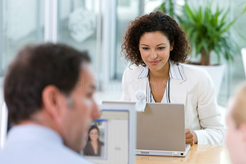 Portrait of attractive business woman stock photography