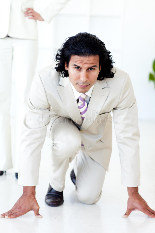 Download Portrait Of An Attractive Businessman On His Marks Stock Photo - Image: 12041808