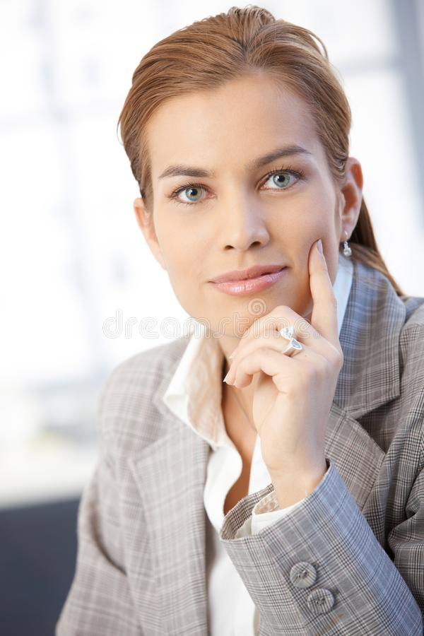 Download Portrait Of Attractive Businesswoman Smiling Stock Image - Image of female, attractive: 18068707