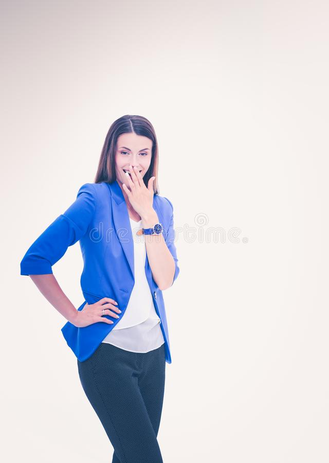 Portrait of attractive caucasian smiling woman royalty free stock photography