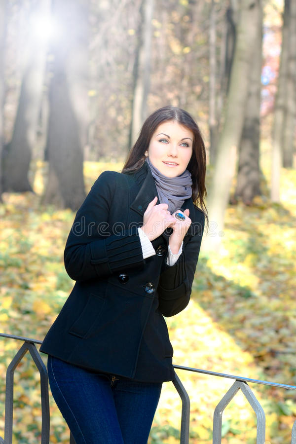 Portrait of the attractive girl royalty free stock photography