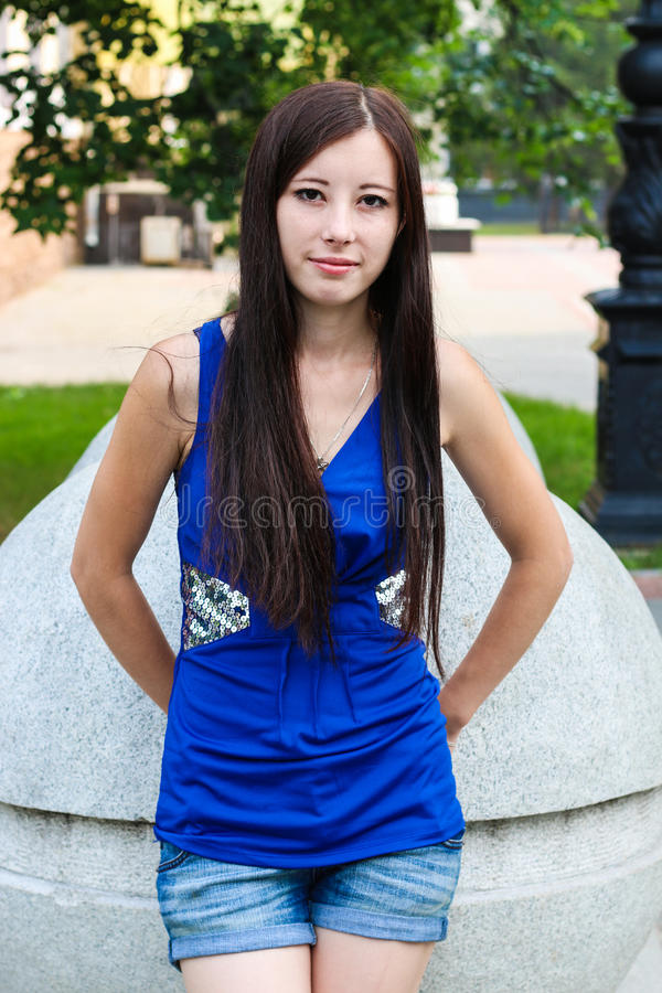Portrait of an attractive girl for magazine cover stock images