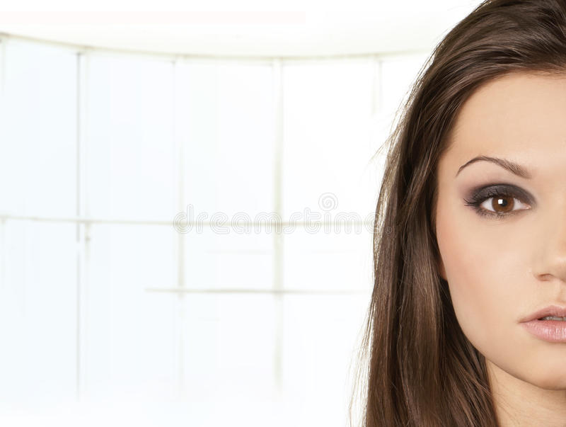 Portrait of an attractive latino woman stock photo