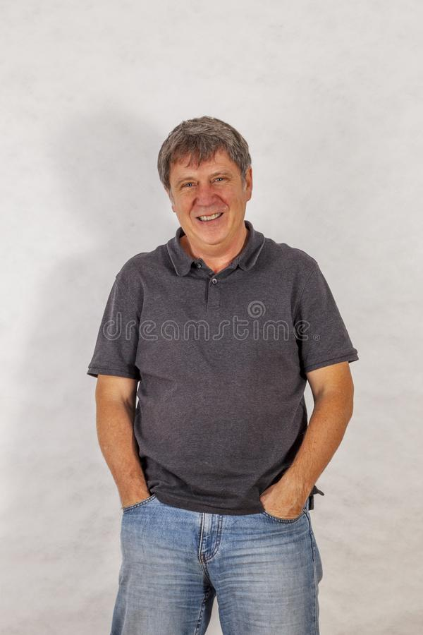 attractive leisure mature man stock photography